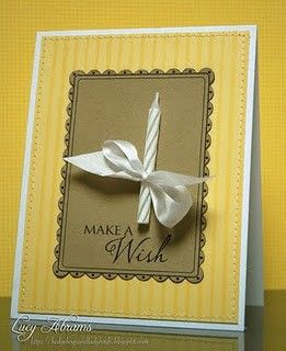 Beautiful birthday candle card idea!
