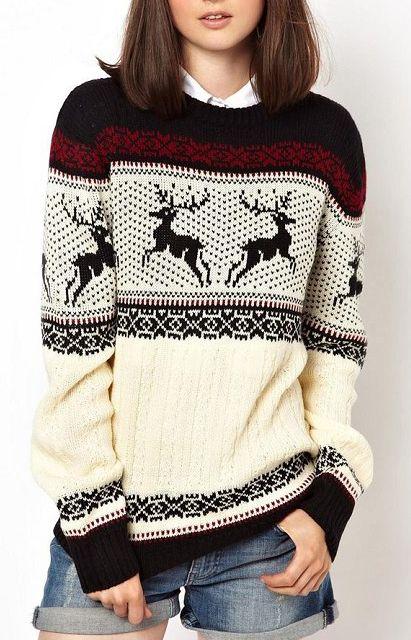 Shop Black Round Neck Deer Pattern Fairisle Sweater online. Sheinside offers Black Round Neck Deer Pattern Fairisle Sweater & more to fit your fashionable needs. Free Shipping Worldwide!