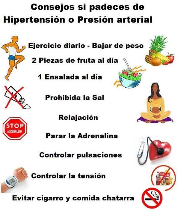 Interesante consejo para controlar la hipertension o presion arterial good life pinterest - Alimentos para la hipertension alta ...