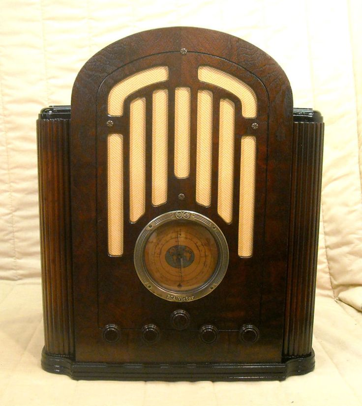 Old Antique Wood Rca Victor Vintage Tube Radio Restored