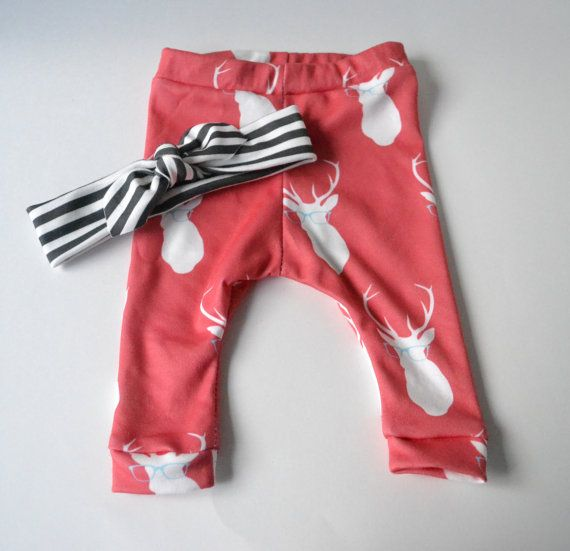 Baby Leggings Deer baby girl pants by TheLinebyAleMulcahy...Sybil MUST have this since she's a Deerman!!!  Love it!!!