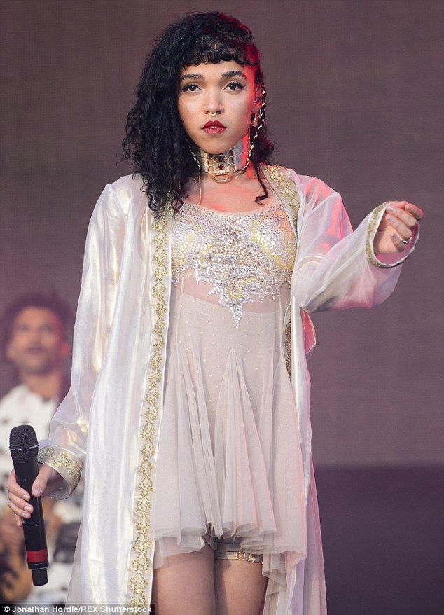 Flying solo: FKA Twigs  seized her time to shine when she performed at Glastonbury Festival in Pilton, Somerset on Sunday afternoon