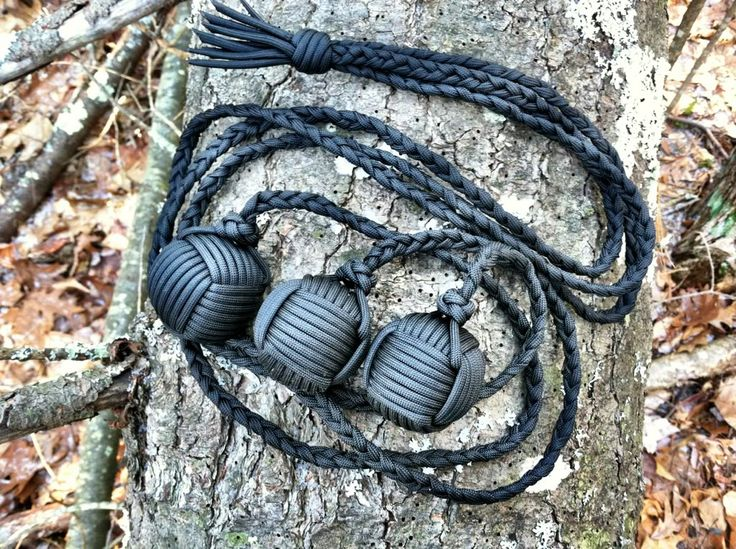 paracord | Paracord bolas with triple 1.5 steel ball monkeys fists - Paracordist ...