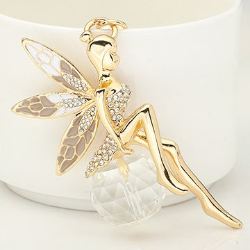 Cute Rhinestone Figure Fairy Keychain Keyring Fashion Crystal Ball Metal Key Chains Ring Holder Women Gift Purse Charm Jewelry-in Key Chains from Jewelry on Aliexpress.com | Alibaba Group