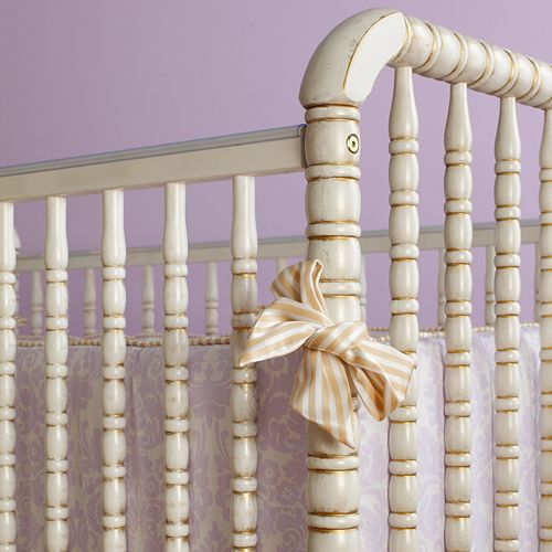 could achieve this look using annie sloan paint and gold accent antique spindle crib in versailles finish all baby cribs at poshtots
