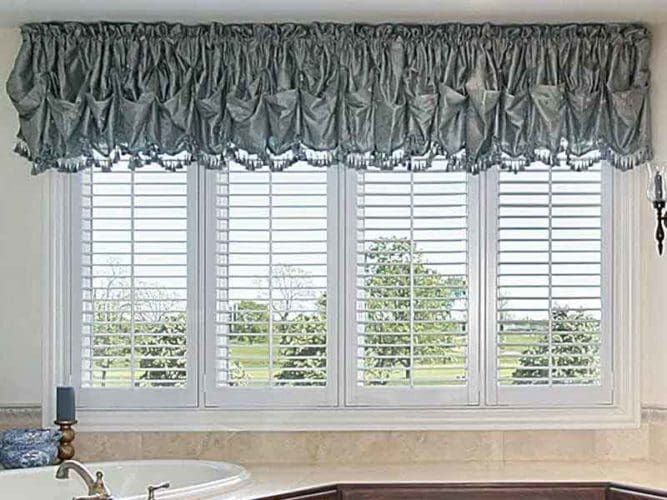 Updated Ideas For Valances Over Blinds Bathroom Window