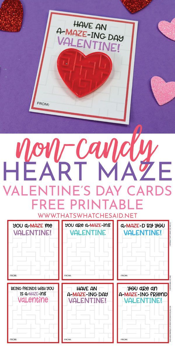 Heart Maze Valentine S Day Card Free Printable Valentines Printables Free Printable Valentines Cards Valentines For Kids