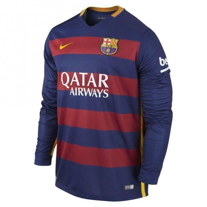 Nike Men's FC Barcelona Long Sleeve Home Jersey 2015/16