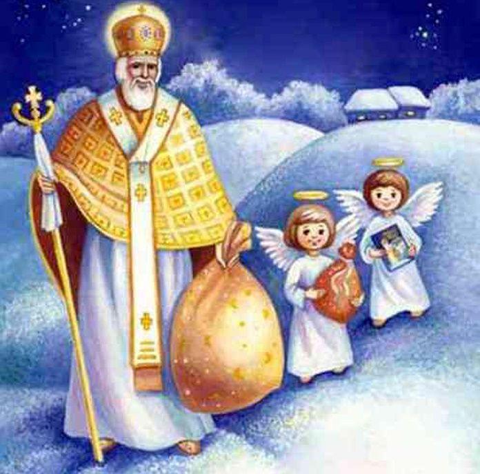 как для открытки ко дню святого николая рисунок начал