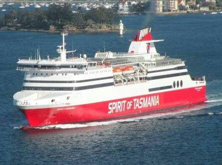 Spirit of Tasmania ferry, departs from Port Melbourne.