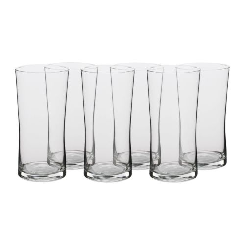 MJÖD  Beer glass, clear glass  $9.99	 / 6 pack  Volume: 22 oz  For George