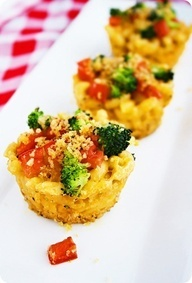Roasted Vegetable Macaroni  Cheese Cups