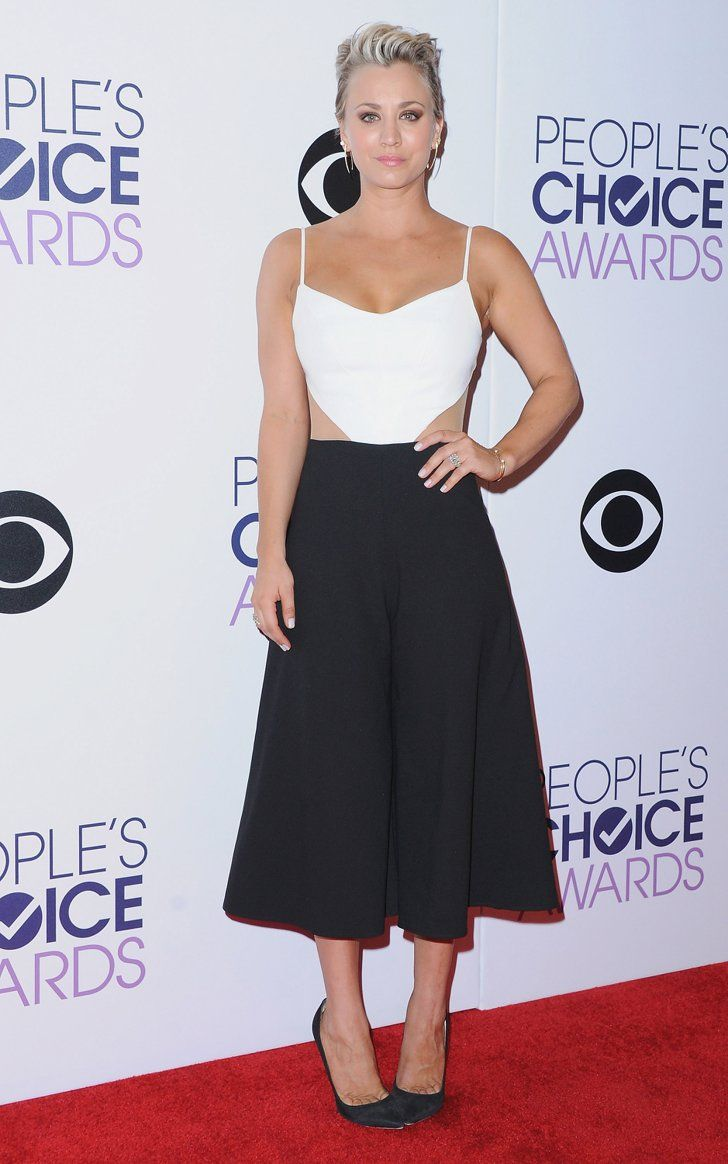 Pin for Later: Allow These Celebs to Finally Persuade You to Try Culottes Kaley Cuoco-Sweeting