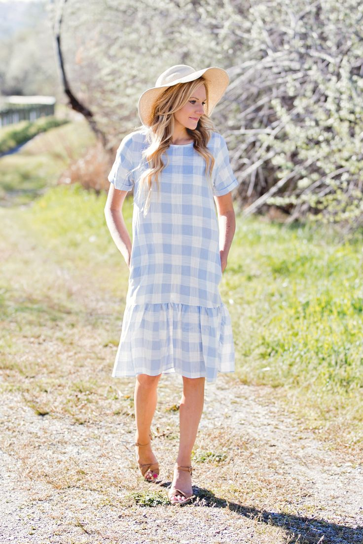 Summer Picnic Dress- Light Blue