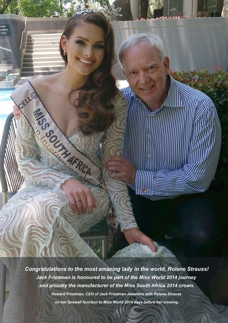 Jack Friedman is honoured to be part of Rolene Strauss and her Miss World 2014 journey.