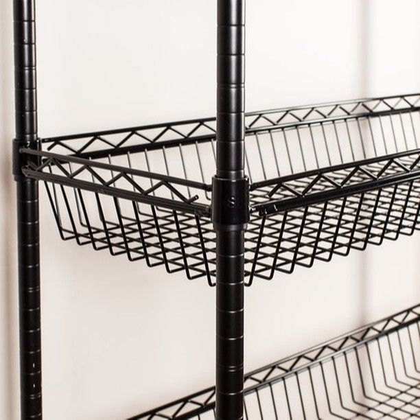 Heavy Duty Basket Wire Shelves Are Great For Securing Storage Of