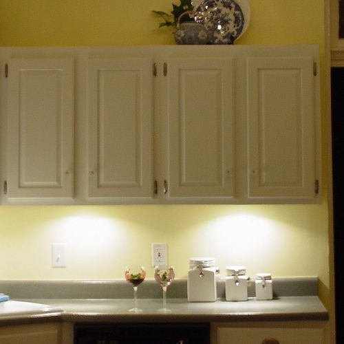 Invisible Under Cabinet Lighting- No Valance Necessary