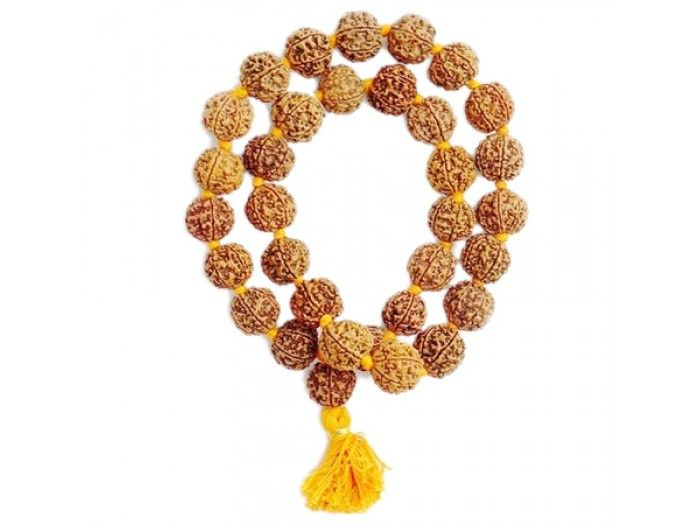 Five mukhi Rudraksha Kantha Mala Online | Vedicvaani.com, India's most trusted brand in authentic genuine rudraksha beads online, Free worldwide shipping.