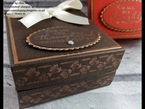 Elegant heat Embossed Gift Box Inspired by my Face Powder Compact! - YouTube