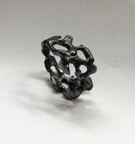 Unique Contemporary Oxidized Sterling Silver by BonTonContemporary