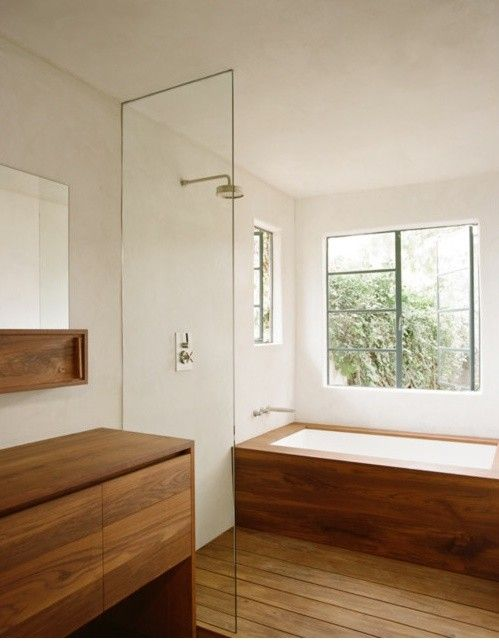 commune wood bathroom remodelista