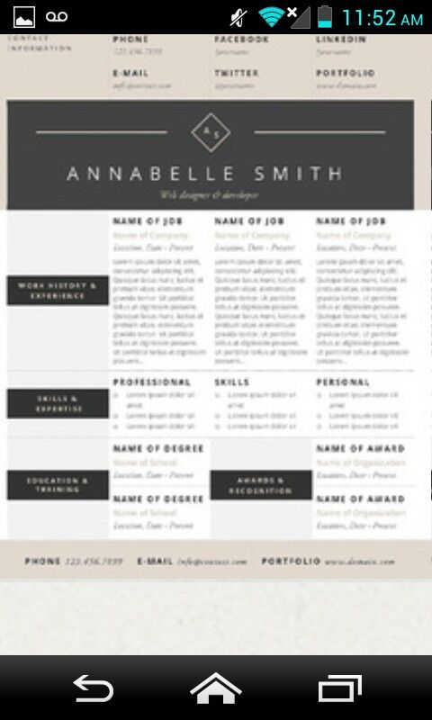 24 best Resumes❇ images on Pinterest Resume, Resume outline and - outline of a resume