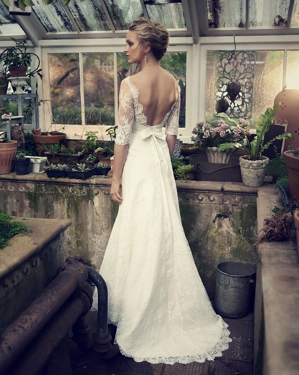 Elbeth Gillis - The back of this gorgeous #weddingdress is just as stunning as the front.