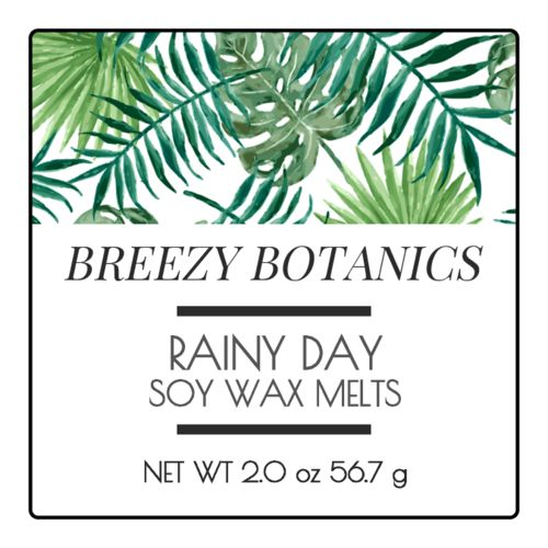 Free Botanical Candle/wax Melt Label Design Template