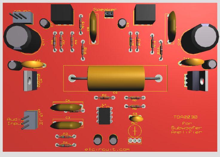 TDA2030 Amplifier complete Subwoofer Filter PCB