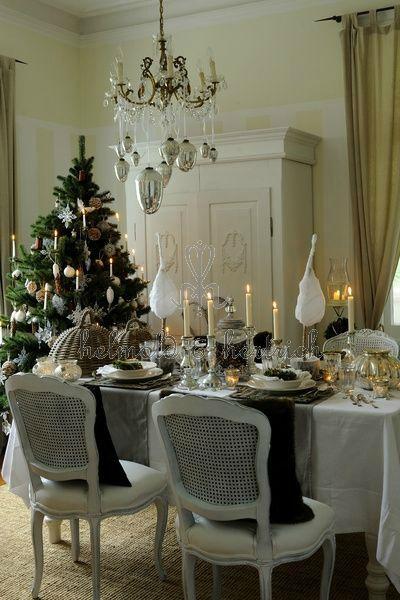 Noël d'esprit gustavien - Bleu Nordique