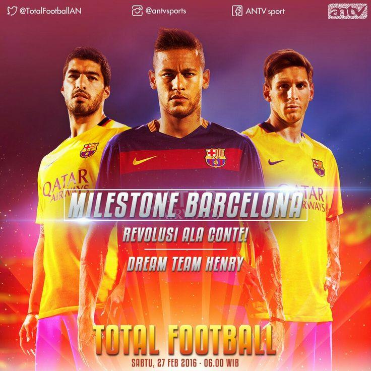 Barcelona at Total Football ANTV for Social Media Graphic Design