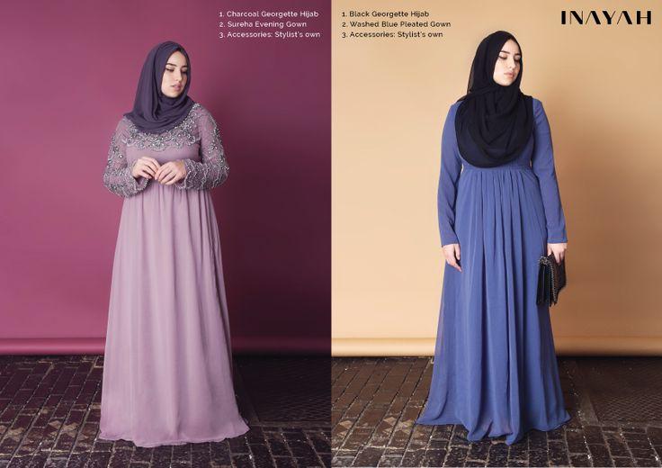 curvey hijab evening wear styles/plus size