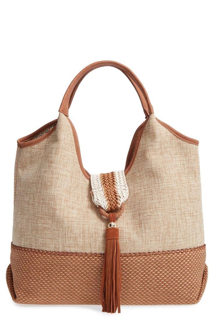 New Steven by Steve Madden Linen Tassel Hobo fashion online. [$90]?@shop.seehandbags<<
