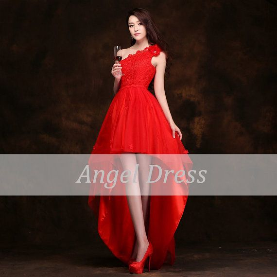 Lace prom dress/ red prom dress/evening by angeldress2014 on Etsy, $140.00