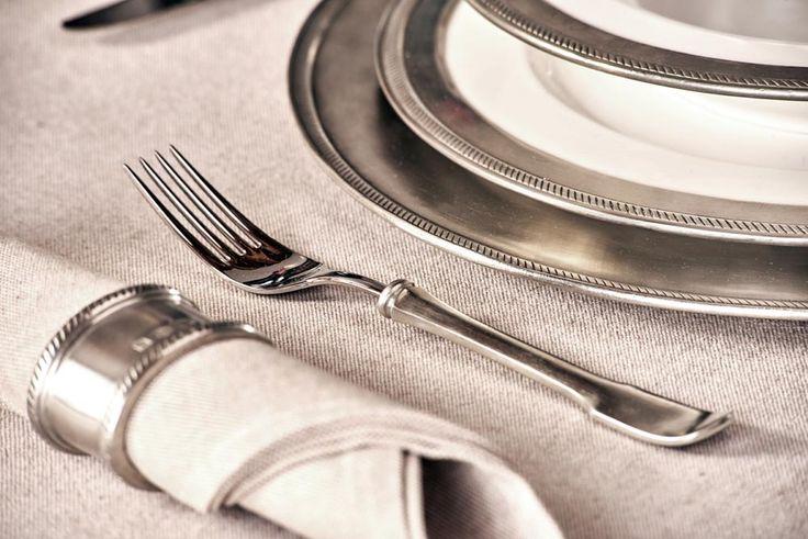 Pewter & Stainless Steel Fork - Length: 21 cm (8,3″) - Food Safe Product - #pewter #stainless #steel #dinner #fork #peltro #acciaio #forchetta #tavola #zinn #edelstahl #stahl #essgabel #gabel #étain #etain #fourchette #peltre #tinn #олово #оловянный #tableware #dinnerware #table #accessories #decor #design #bottega #peltro #GT #italian #handmade #made #italy #artisans #craftsmanship #craftsman #primitive #vintage #antique