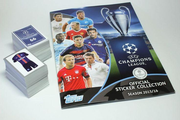 Original Topps Champions League 2015-2016 complete set of 619 stickers + album