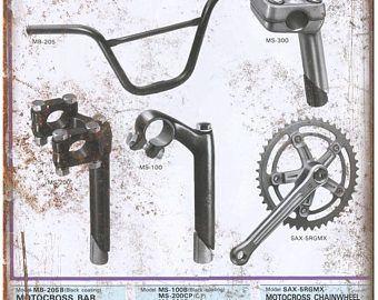 "BMX Motocross Parts 10"" x 7"" Metal Sign Vintage Look Reproduction"