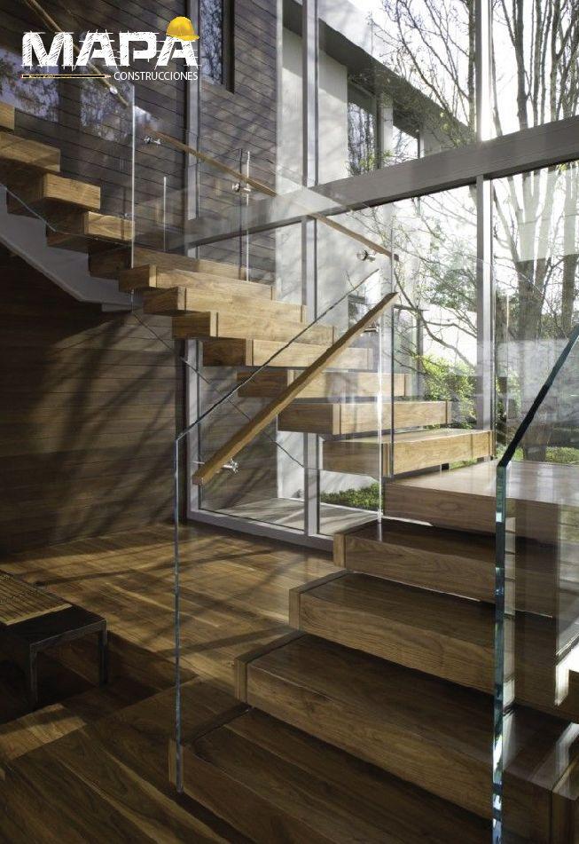Construtip: vidrio madera=escalera moderna y elegante ...