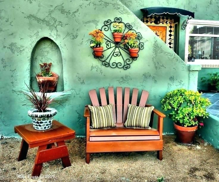 Mexican Outdoor Decor Garden Id Put This Settee Inside In The Kitchen