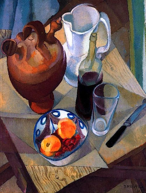 Diego Rivera, Still Life, 1913 ~Repinned Via Chanoch Gisser