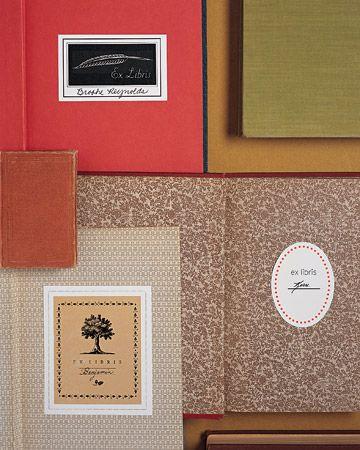Homemade Bookplates template