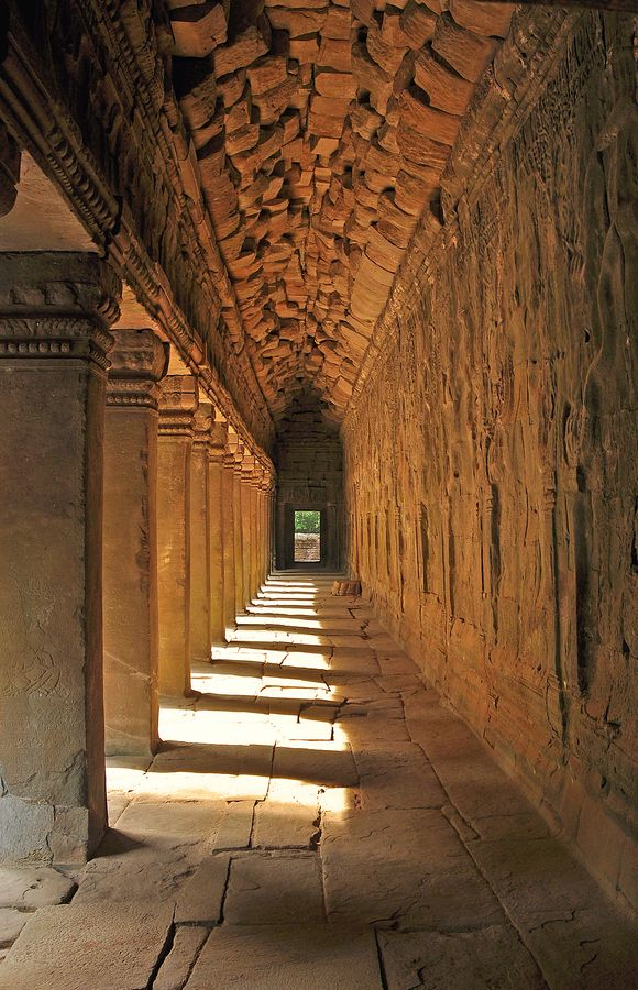 Light at the end of the tunnel - Angkor Wat Temple, Cambodia