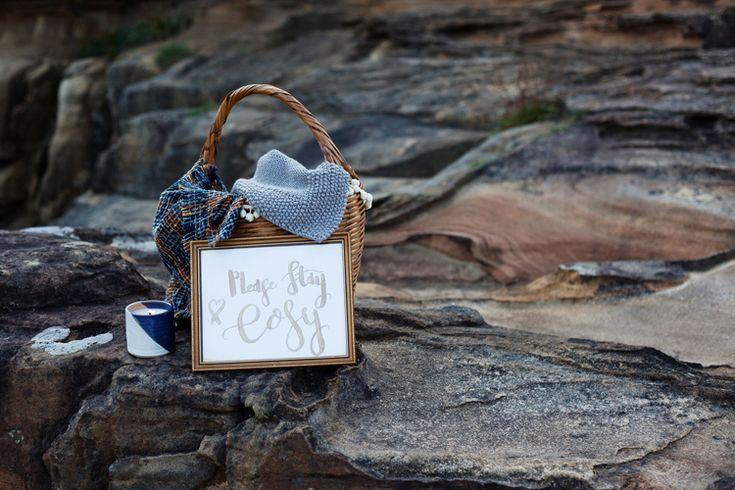 Blanket Hamper Basket Cosy Luxe Bohemian Beach Wedding Ideas http://www.zoeemilie.co.uk/