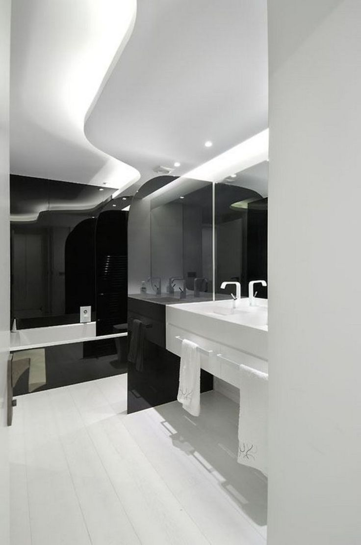 Interesting Modern Black & White Apartment by A-Cero | UltraLinx