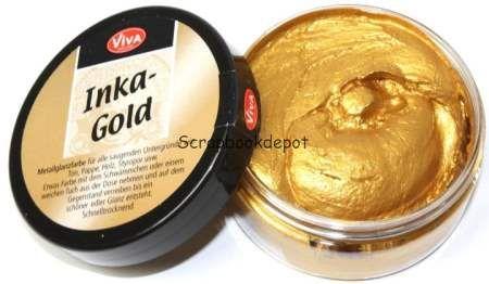 Scrapbookdepot - Viva Decor Inka-Gold metaal glans verf - Antiek Goud