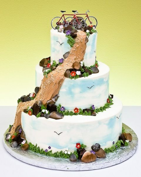 Mountain Bike Wedding Cake Maybe Grooms