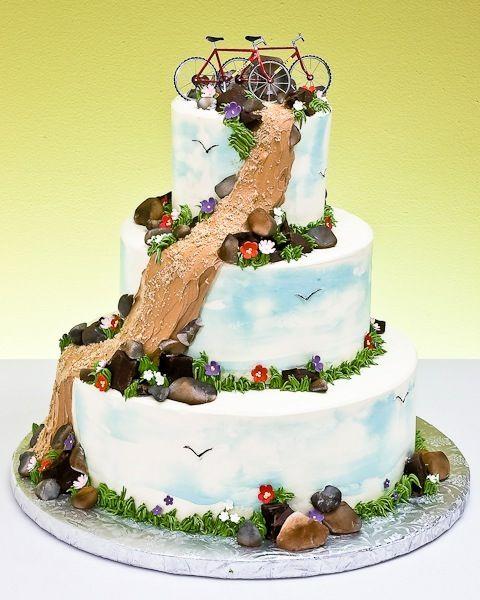 Mountain Bike Wedding Cake