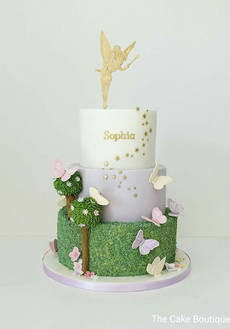 Fairies theme. Butterfly cake. Birthday cake for girls. Fairy, tinkerbell theme.