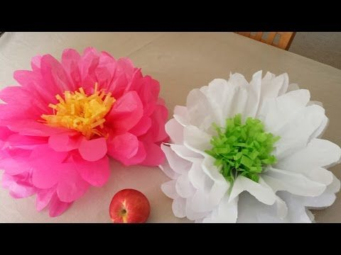 How to Make Giant Tissue Paper Flowers, My Crafts and DIY Projects