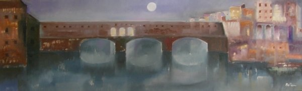 Lido Bettarini 50x160 cm - Ponte Vecchio @ Deodato Arte